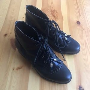 Ariat Black Leather Boots Womens Size 8.5M 16070